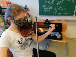 Christianes Geige muss zum Geigenbauer