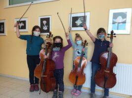 Celloklasse bleibt am Ball